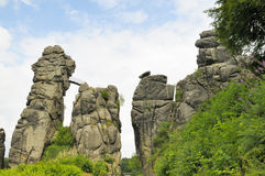 Externsteine Stock Photography