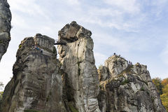 Externsteine in Autumn, Germany, editorial Royalty Free Stock Images