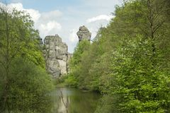 Externsteine Herford, Germany Stock Images