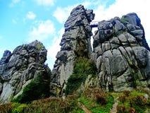 Externsteine rocks Stock Photo