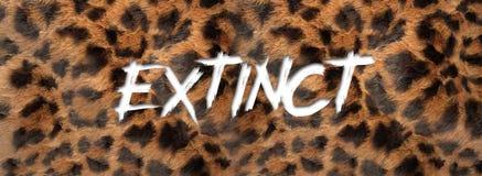 Extinção escrita fonte com pele da onça ilustração stock