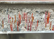 Extinct Chinese incense candles Royalty Free Stock Images