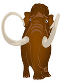 Extinct prehistorical animal mammoth Royalty Free Stock Images