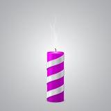 Extinct Purple New Year Candle Stock Photo