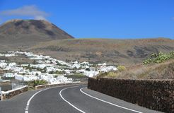 "Extinct volcano ""Mount Corona"". Lanzarote, Canary Islands. Stock Photos"