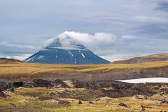 Extinct volcano. Far east, Russia, Kamchatka landscape royalty free stock image