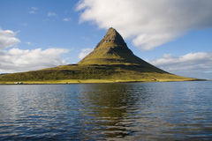 Extinct volcano in Iceland Stock Photography
