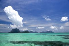 Extinct Volcano Island. Image of remote Malaysian tropical islands that were formerly the rim of a volcano, now extinct stock photo
