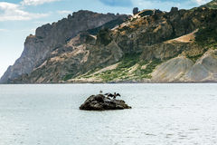 Extinct volcano Kara-Dag mountain reserve,Crimea Stock Images