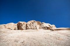 Extinct volcano in Kazakhstan. Extinct volcano Bektau Ata in the desert of eastern Kazakhstan Stock Photography