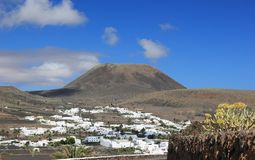 "Extinct volcano ""Mount Corona"". Lanzarote, Canary Islands. Stock Photography"