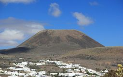 "Extinct volcano ""Mount Corona"". Lanzarote, Canary Islands. Stock Image"