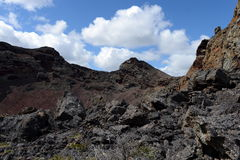 Extinct volcano in the national Park Pali Aike in the South of Chile. PALI AIKE, CHILE - NOVEMBER 11,2014:Extinct volcano in the national Park Pali Aike in the stock photo