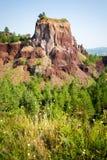 Extinct vulcano. Racos extinct vulcano geological site, Brasov county, Transylvania, Romania royalty free stock photo