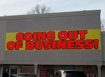 Extinction des affaires Images stock