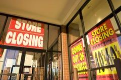 Extinction des signes d'affaires Photo stock