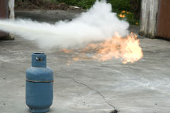 Extinguish a fire Stock Photography