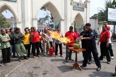 Extinguish the fire Stock Photos