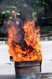Extinguish the fire Stock Image