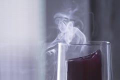 Extinguished candle smoke Royalty Free Stock Image