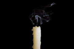 Extinguished the candle Royalty Free Stock Images
