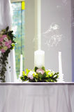 Extinguished candle royalty free stock photos