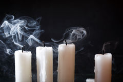 Extinguished Candles On Dark Royalty Free Stock Photo