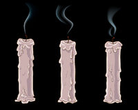 Extinguished candles Stock Images