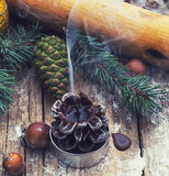 Extinguished Christmas candle Stock Photography