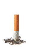 Extinguished cigarette. Stock Photos