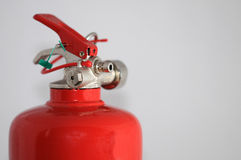 Extinguisher. This is a top of a fire extinguisher stock photos