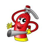 Extinguisher. Illustration of red Extinguisher with smiling face Royalty Free Stock Photo