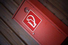 Extinguisher box Stock Photography