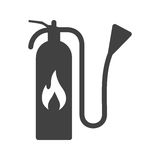 Extinguisher. Fire, extinguisher, firefighter icon vector image. Can also be used for firefighting. Suitable for use on web apps, mobile apps and print media Royalty Free Stock Photo