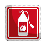 Extinguisher fire isolated icon Royalty Free Stock Photo