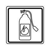 Extinguisher fire isolated icon Stock Photo