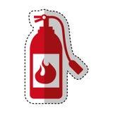 Extinguisher fire isolated icon Stock Photos