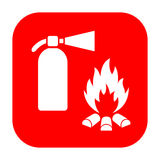 Extinguisher and fire safety sign. Extinguisher and fire safety vector sign Royalty Free Stock Images