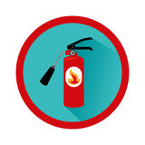 Extinguisher fire sign icon. Vector illustration design royalty free illustration