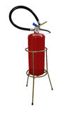 Extinguisher and holder Royalty Free Stock Images