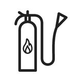 Extinguisher icon. Fire, extinguisher, firefighter icon vector image. Can also be used for firefighting. Suitable for use on web apps, mobile apps and print Stock Photo