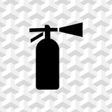 Extinguisher icon  stock vector illustration flat design Royalty Free Stock Photography