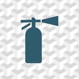 Extinguisher icon  stock vector illustration flat design Royalty Free Stock Photo