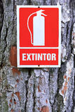 Extinguisher sign Royalty Free Stock Images