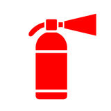 Extinguisher vector icon. Isolated on white background Stock Photos