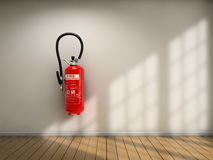 Extinguisher on wall Stock Images