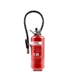 Extinguisher on white Royalty Free Stock Photo