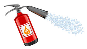 Extinguisher. On a white background Stock Photos