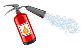 Extinguisher. On a white background Stock Photos