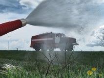Extinguishing Stock Photo